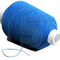 Cordino elastico in bobina, spessore 1mm, Blu medio