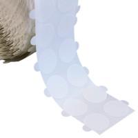bollini biadesivi diametro 20mm, adesivo removibile/removibile