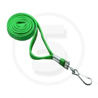 Cordini porta badge con gancio girevole in metallo, Verde
