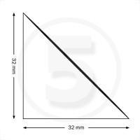 Tasche ad angolo autoadesive, triangolo isoscele 32x32mm, trasparenti