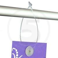 Fili di sicurezza in plastica trasparente, lunghezza 225mm