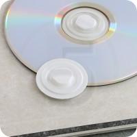 Clips porta CD autoadesivo, in plastica Bianca