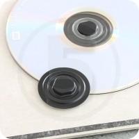 Clips porta CD autoadesivo, in plastica Nera