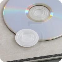 Clips porta CD autoadesivo, in plastica Trasparente