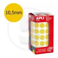 Etichette adesive rotonde color Oro. Bollini tondi diametro 10, 5mm