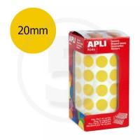 Etichette adesive rotonde color Oro. Bollini tondi diametro 20mm