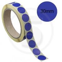 Bollini adesivi colorati diametro 30mm. Etichette adesive rotonde color Blu