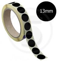 Bollini adesivi colorati diametro 13mm. Etichette adesive rotonde color Nero