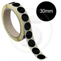 Bollini adesivi colorati diametro 30mm. Etichette adesive rotonde color Nero