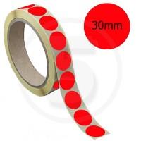 Bollini adesivi colorati diametro 30mm. Etichette adesive rotonde color Rosso