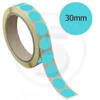 Bollini adesivi colorati diametro 30mm. Etichette adesive rotonde color Celeste