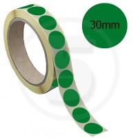 Bollini adesivi colorati diametro 30mm. Etichette adesive rotonde color Verde Scuro
