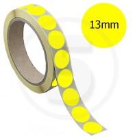 Bollini adesivi colorati diametro 13mm. Etichette adesive rotonde color Giallo