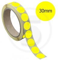Bollini adesivi colorati diametro 30mm. Etichette adesive rotonde color Giallo