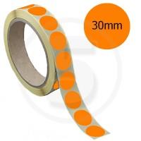Bollini adesivi colorati diametro 30mm. Etichette adesive rotonde color Arancione