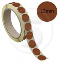 Bollini adesivi colorati diametro 13mm. Etichette adesive rotonde color Marrone