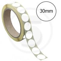 Bollini adesivi colorati diametro 30mm. Etichette adesive rotonde color Bianco