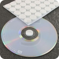 Bollini in schiuma autoadesivi porta CD, Bianco