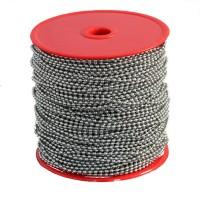 Catenella a pallini in bobina, diametro 2,4mm, in acciaio inox