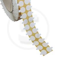 Bollini biadesivi diametro 15mm, adesivo permanente/permanente