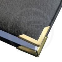 Angolini metallici di protezione PS 22, 22x22 mm, profondità 3.5 mm, ottonati