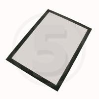 Tasca magnetica autoadesiva per superfici non metalliche. formato A4, Nero