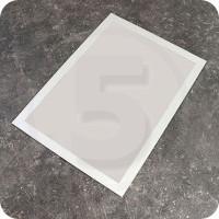 Tasca magnetica autoadesiva per superfici non metalliche. formato A4, Silver