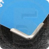 Angolini metallici di protezione C 15, 15x15mm, nichelati