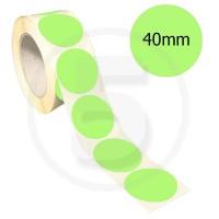 Bollini adesivi colorati diametro 40mm. Etichette adesive rotonde color Verde Chiaro