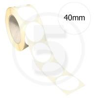 Bollini adesivi colorati diametro 40mm. Etichette adesive rotonde color Bianco