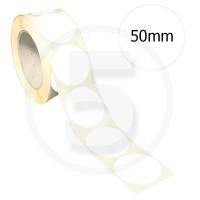Bollini adesivi colorati diametro 50mm. Etichette adesive rotonde color Bianco