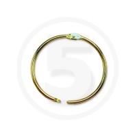 Anelli metallici apribili per legatoria, diametro 32mm, ottonati