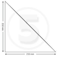 Tasche ad angolo autoadesive, triangolo isoscele 210x210mm, trasparenti