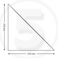 Tasche ad angolo autoadesive, triangolo isoscele 170x170mm, trasparenti