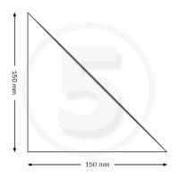 Tasche ad angolo autoadesive, triangolo isoscele 150x150mm, trasparenti