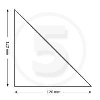 Tasche ad angolo autoadesive, triangolo isoscele 120x120mm, trasparenti