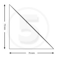 Tasche ad angolo autoadesive, triangolo isoscele 75x75mm, trasparenti
