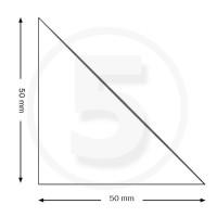 Tasche ad angolo autoadesive, triangolo isoscele 50x50mm, trasparenti