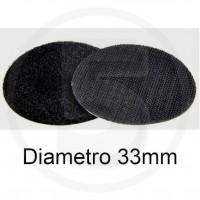 Bollini in velcro autoadesivi, diametro 33mm, Nero
