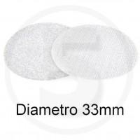 Bollini in velcro autoadesivi, diametro 33mm, Bianco