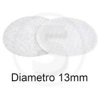 Bollini in velcro autoadesivi, diametro 13mm, Bianco