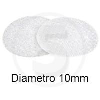 Bollini in velcro autoadesivi, diametro 10mm, Bianco