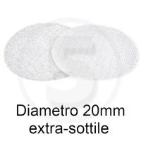 Bollini in velcro autoadesivi extra sottili, diametro 20mm, Bianco