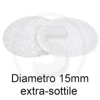 Bollini in velcro autoadesivi extra sottili, diametro 15mm, Bianco