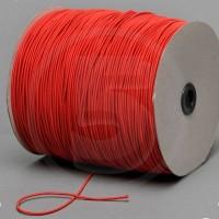 Cordino elastico in bobina, spessore 2,2mm, Rosso