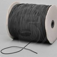 Cordino elastico in bobina, spessore 2,2mm, Nero