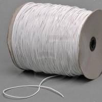 Cordino elastico in bobina, spessore 2,2mm, Bianco