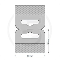 Ganci per blister autoadesivi con foro euro 50x50mm, con doppia banda adesiva
