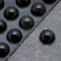 Gommini autoadesivi paraurti emisferici diametro 16mm neri