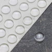 Gommini autoadesivi paraurti emisferici diametro 11,1mm trasparenti